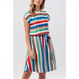 Sugarhill Boutique Jurk Connie Cabana Stripe Elasticated Middenblauw/Rood