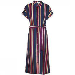 Armedangels Dress Marjaa Multicolour Stripes Marine/Assortment Rainbow