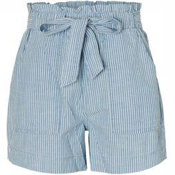 Vero Moda Short Emily Hr Chambray Pocket Bleu Clair/Blanc