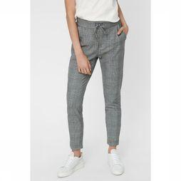 Vero Moda Broek eva Mr Loose String Checked Donkergrijs/Wit