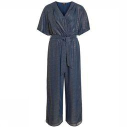 Object Jumpsuit hollie 3/4 Donkerblauw/Goud
