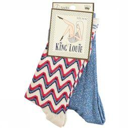 King Louie Sock Socks 2Pack Art Deco mid blue/Assortment Geometric