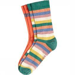 King Louie Sock Socks 2Pack Ravello mid pink/Assortment Rainbow