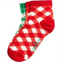 King Louie Sock Sock 2Pack Vichy red/white