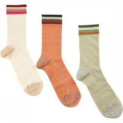 Numph Sock Ladomia 3-Pack Glitter Socks off white/mid pink