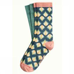 King Louie Sock 2-Pack Namaste mid green/mid yellow