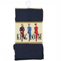 King Louie Panty Tights Solid Donkerblauw