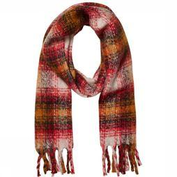 Pieces Scarf jovirine Long red/off white