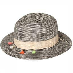 Pieces Hat Bevi Straw Hat black/sand