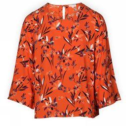 Armedangels Shirt Saaliha orange/Assortment Flower