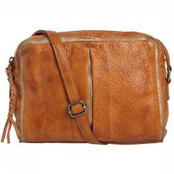Pieces Sac Ingelise Leather Crossbody Chameau/Or