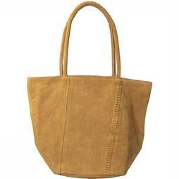 Yaya Tas Big Leather Shopper Kameelbruin