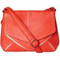 Pieces Bag Barbara Leather Crossbody red