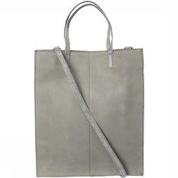 Yaya Tas Mixed Leather Shopper Zandbruin