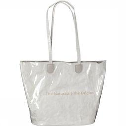 Yaya Tas Bag With Transparent Layer And Print Gebroken Wit