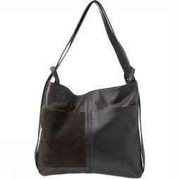 Yaya Sac Leather Back Pack Brun Foncé