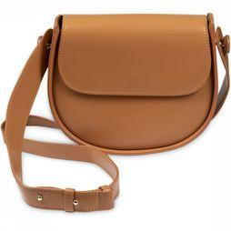 Yaya Tas Faux Leather Crossbody Saddle Yaya Logo Oranje