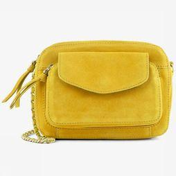 Pieces Tas Pcnaini Suede Cross Middengeel
