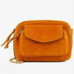 Pieces Bag Pcnaini Suede Cross orange
