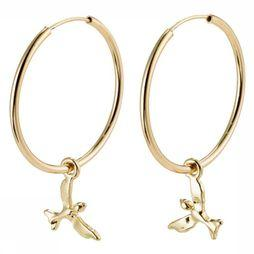 Pilgrim Boucle D'Oreille Air Gold Plated Or