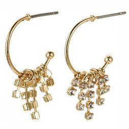 Pilgrim Boucle D'Oreille Fire Gold Plated Crystal Or