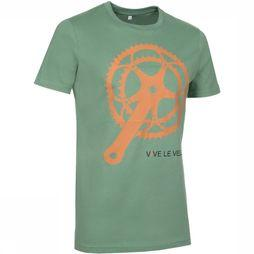 Vive le Velo T-Shirt Gear Wheel Middenkaki