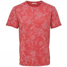 Only&Sons T-Shirt pecosaop mid red/Assortment Geometric