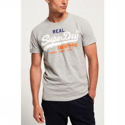 Superdry T-Shirt Vintage Logo Tri Light Grey Mixture