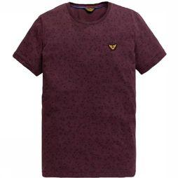 PME Legend T-Shirt Ptss196542 Bordeaux/Assortiment Geometrisch