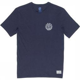 Element T-Shirt Too Late Logo Timb Donkerblauw
