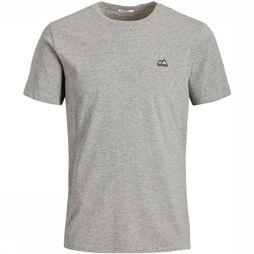 Jack & Jones T-Shirt Jorhans Tee Ss Crew Neck Gris Clair Mélange