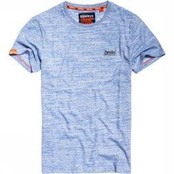 Superdry T-Shirt Orange Label Vintage Embr. Bleu Clair
