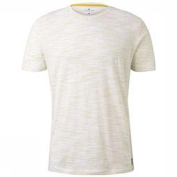 Tom Tailor T-Shirt 1017555 mid yellow/white