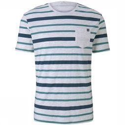 Tom Tailor T-Shirt 1017559 off white/mid green