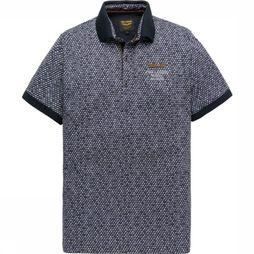 PME Legend Polo Ppss195852 Donkerblauw/Assortiment Geometrisch