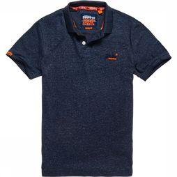Superdry Polo Orange Label Jersey Bleu De Jeans