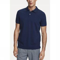 Scotch & Soda Polo Classic In Melange Pique Quality Donkerblauw