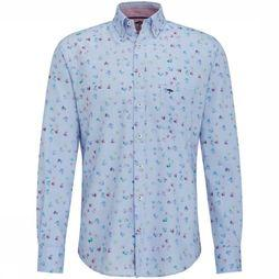 Fynch-Hatton Shirt 1119 6100 Cf light blue/Assortment Geometric