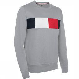 Tommy Hilfiger Pull Th Flag Chest Logo Sw Gris Clair Mélange