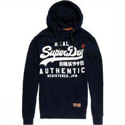 Superdry Trui Reactive Classic Hood Donkerblauw