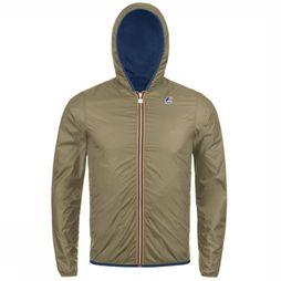 K-Way Jas Jacques Plus Double Middenblauw/Zandbruin