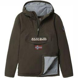 Napapijri Coat Rainforest dark khaki/exceptions