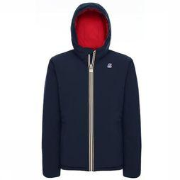 K-Way Coat Jacques Warm Double dark blue/mid red