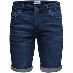 Only&Sons Short plyld Donkerblauw
