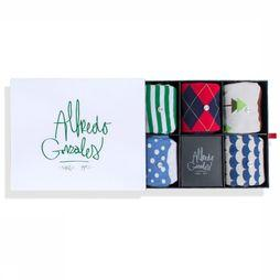 Alfredo Gonzales SOCK AG A.G. THE HOLIDAY BOX red/green