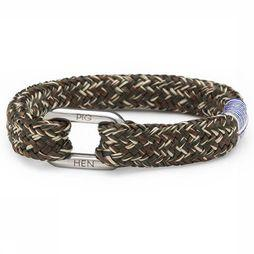PIG&HEN Bracelet Limp Lee mid khaki/dark brown