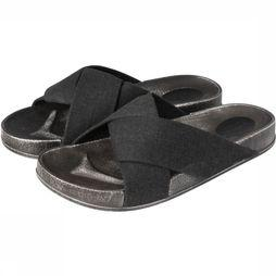 Yaya Slipper Slides With Folded Straps Zwart