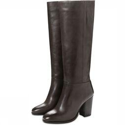 Yaya Botte  High Leather Boot Brun Foncé