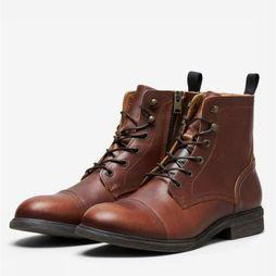 Selected Bottine terrel Leather Boot Brun moyen