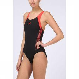Speedo Bathing Suit Endurance Boom Muscleback black/red
